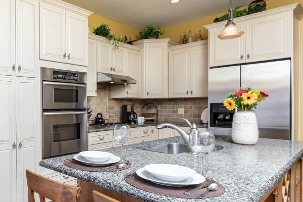 Kitchen 1st Floor Guest Suite Roscoe Village Inn Vacation Rental in Chicago