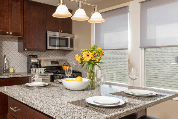 Kitchen Island 3rd Floor Guest Suite Roscoe Village Inn Vacation Rental in Chicago