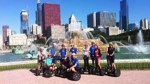 people on a chicago segway tour